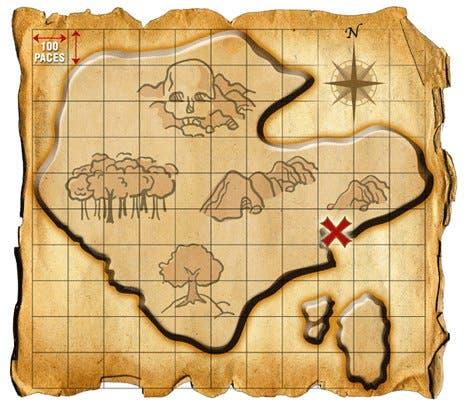 Dibujos de mapa del tesoro jake y los piratas - Imagui
