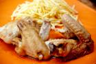 Alitas de pollo en salsa de soja, miel y limón