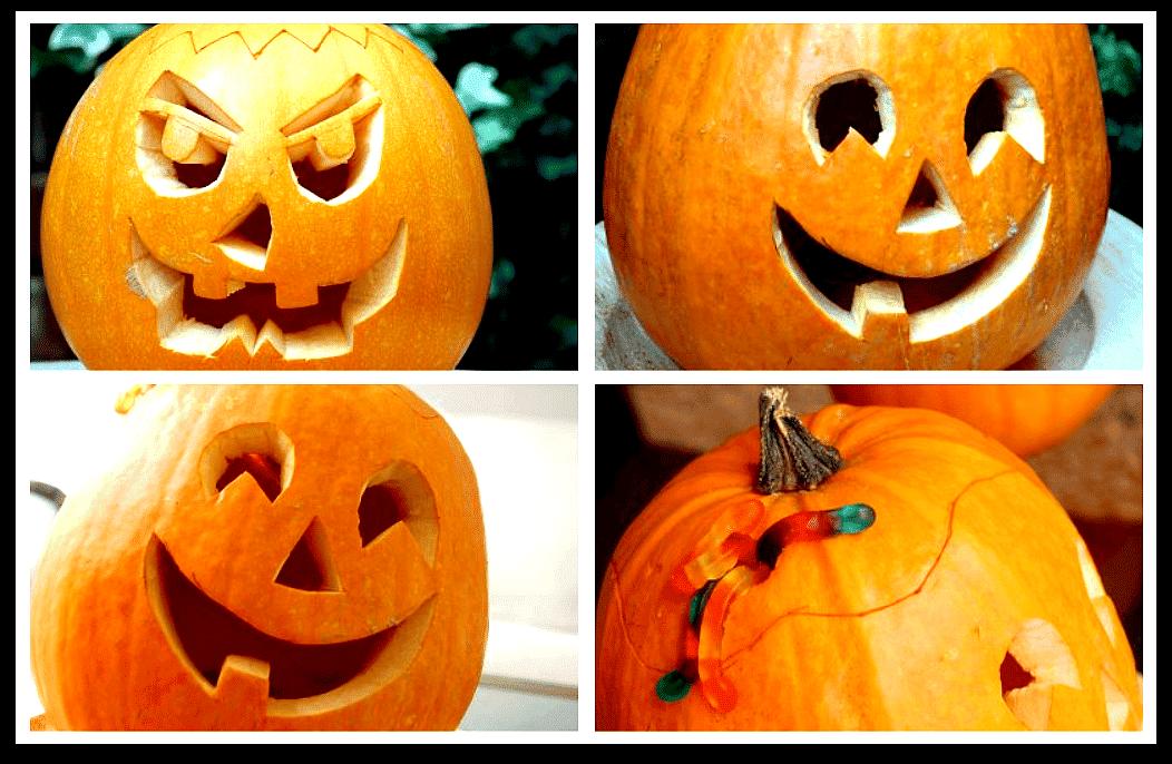 calabazas decoradas para halloween velocidad cuchara