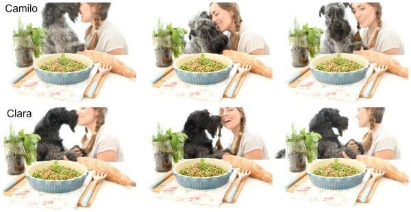 Clara y Camilo siempre cotillean las recetas que preparamos :D