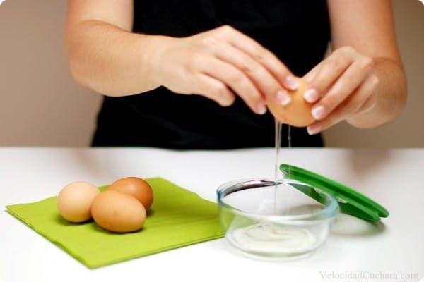 Claras de huevo para guardar