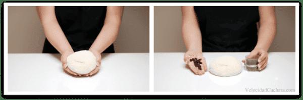 Prepara la masa y el chocolate