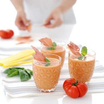 Gazpacho con crujiente de jamón
