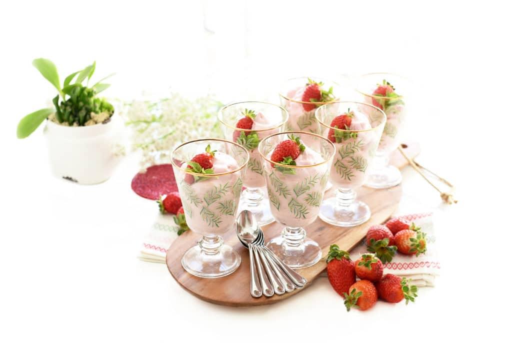 Espuma helada de fresas con Thermomix®