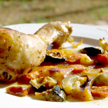 Muslitos de pollo al vapor, macerados en adobo de hierbas y limón