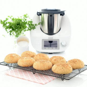 Pan de hamburguesa con Thermomix®