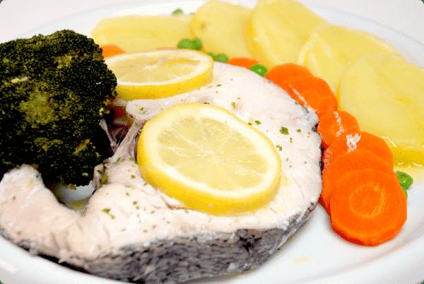 Plato completo en varoma con crema de verduras