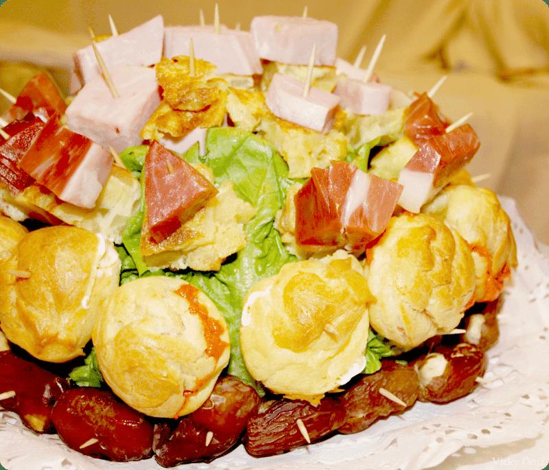 Receta de profiteroles para erizo salado con thermomix - Profiteroles salados rellenos ...