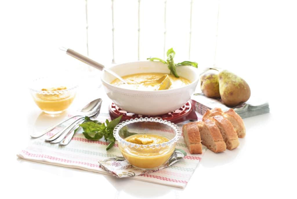 Puré de verduras y pollo con Thermomix®