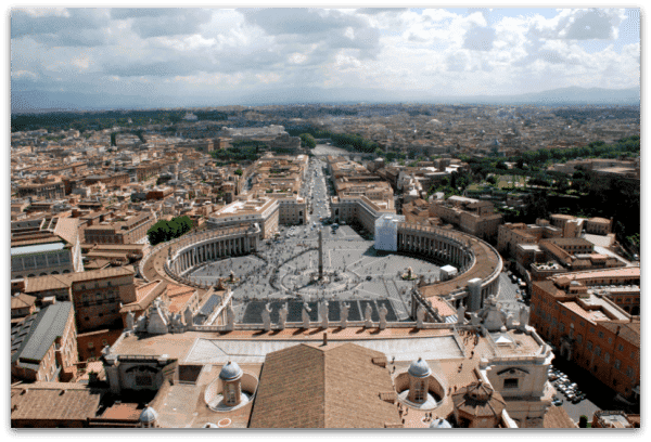 Roma: Vistas desde la cúpula del Vaticano