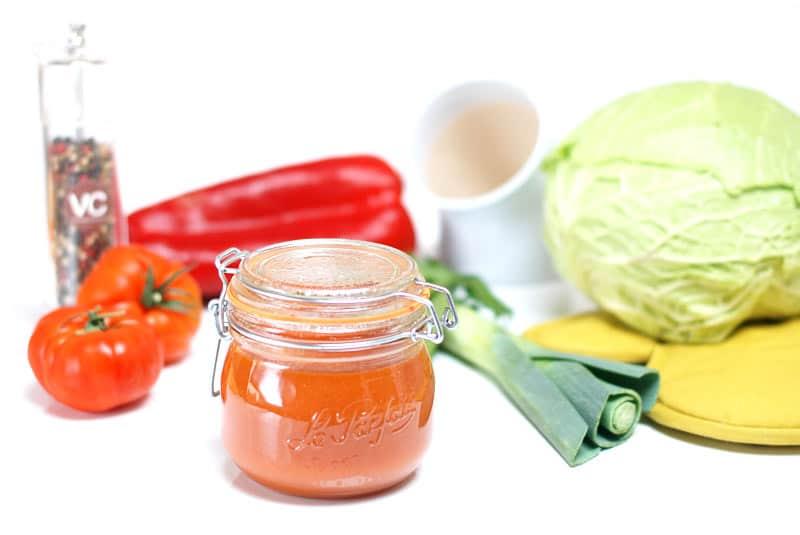 Sopa o crema de verduras depurativa