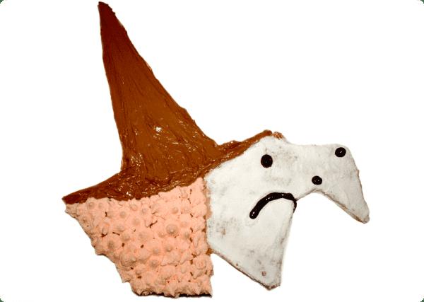 Tarta de la bruja de Halloween