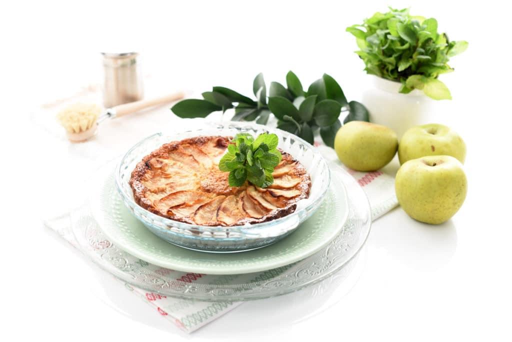 Tarta de manzana húmeda