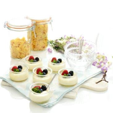 Yogur cremoso con nata