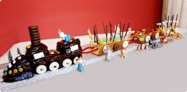 Tarta tren para un cumpleaños especial