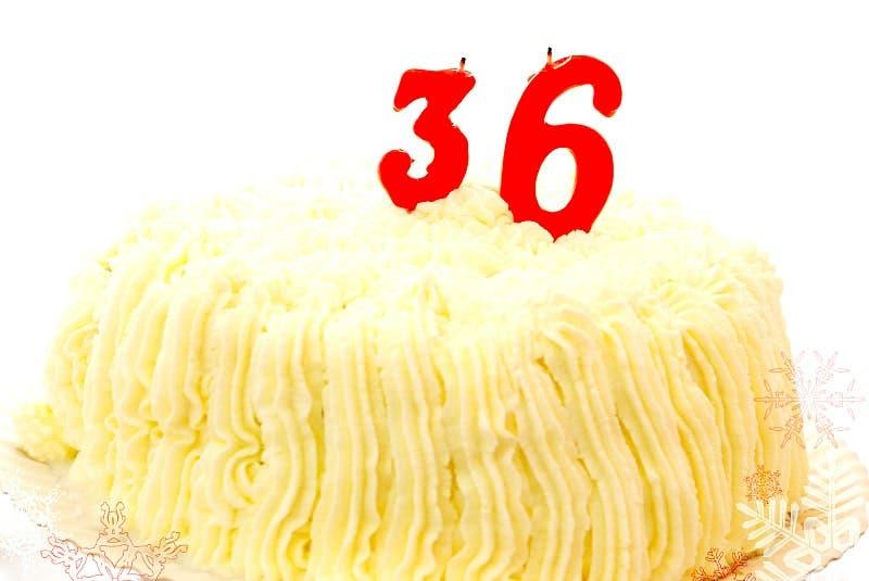 Tarta de nata para mi de 36 cumpleaños