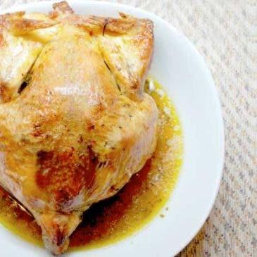 Pollo asado en bolsa de asar