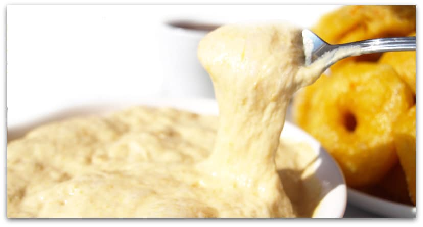 Buñuelos de calabaza, la masa