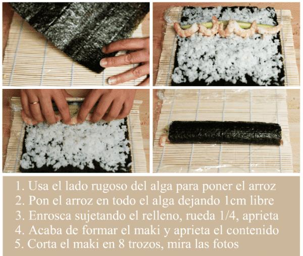 Sushi paso a paso