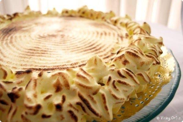 Tarta de merengue y limón