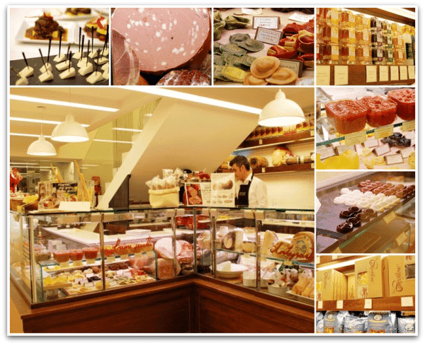 Accademia del gusto, la tienda