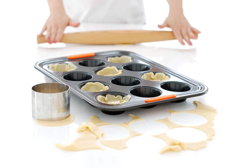 Miniquiches en moldes de magdalenas, con masa quebrada