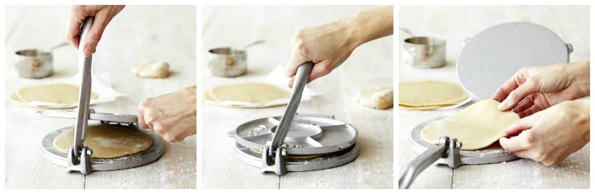 Prensadora de hierro para tortillas de trigo