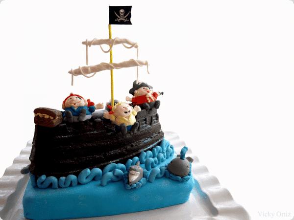 Tarta del barco Pirata