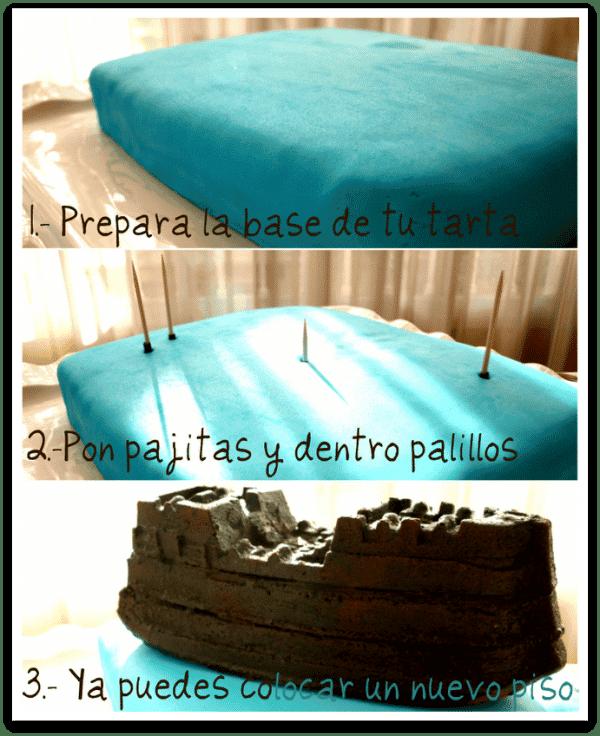 Cómo se montan los pisos en las tartas