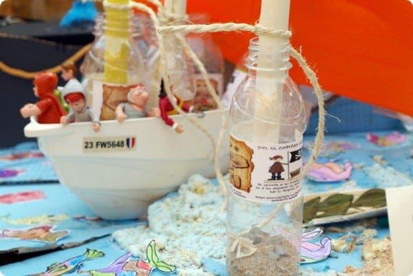 Las botellas con mensaje del pirata