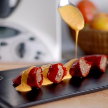 Pimientos del piquillo rellenos: carne y queso