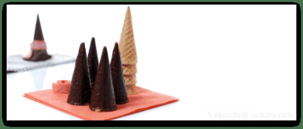 Comos pintados con chocolate listos para usar