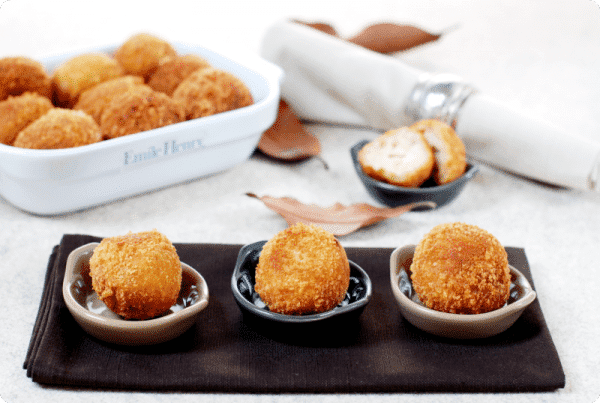 Croquetas de queso y membrillo