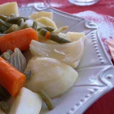 Verduras de la huerta Valenciana al vapor