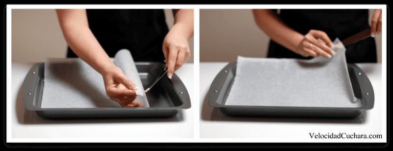 Colocar el papel de horno para que no se mueva - Como colocar papel en la pared ...