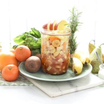Macedonia de frutas de temporada