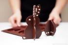 Huevos y conejo de Pascua en 3D