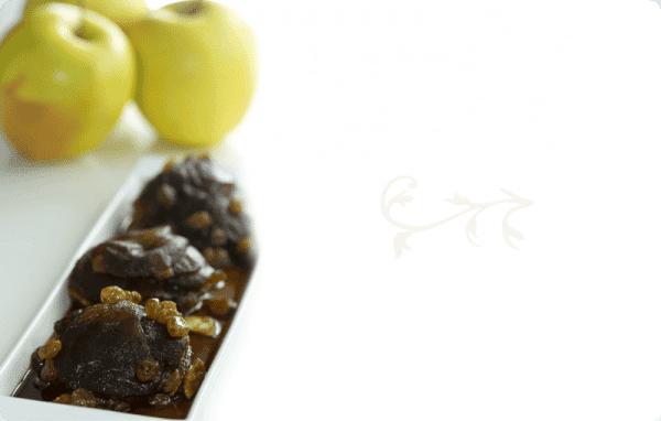 Milhojas de manzanas y pasas