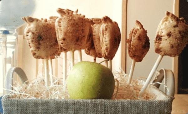 Piruletas de manzana