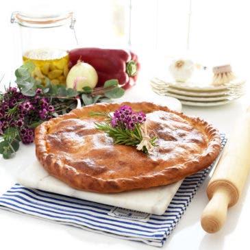 Empanada de bacalao y pasas