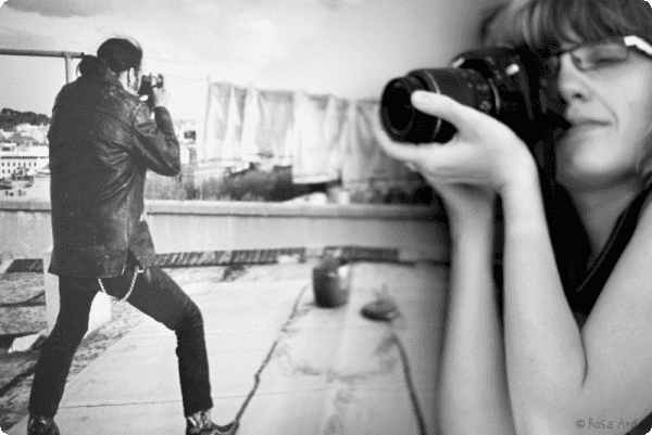 Fotógrafo contra fotógrafa