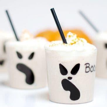 Batido del terror: plátano, leche y helado