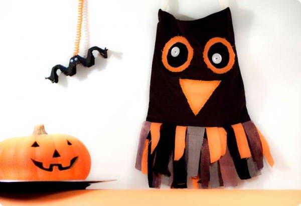 """Bolsa """"Buho"""" para recoger caramelos en Halloween"""