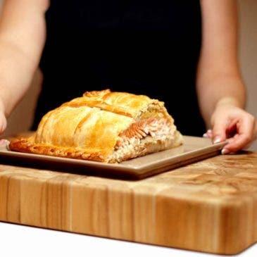 """Empanada de Salmón Noruego o """"Kulibiak"""""""