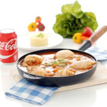 Pollo a la Coca-Cola con cuscús