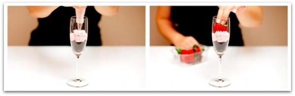 Pon la nata montada con una boquilla rizada y adorna con frutos rojos