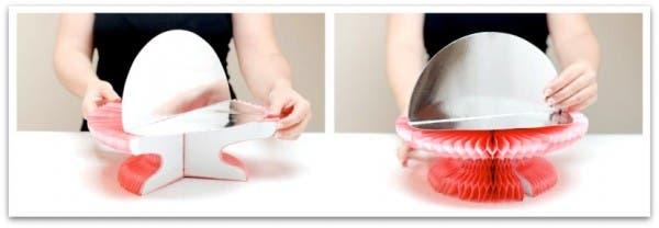 Sirve tartas de papel o paper cake stand: Fácil de abrir y pegar