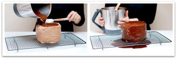 Receta de Tarta Rayada con Thermomix: Cubre con el chocolate
