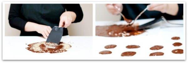 Aprovecha el excedente de chocolate y nueces para hacer galletitas