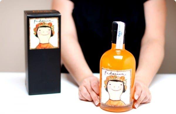 Federica para beber o cocinar, el arancello de Valencia, un licor de naranja